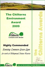the Chilterns Awards certificate